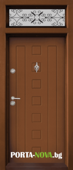 Ednokrila vhodna vrata T 712 tsvyat Zlaten dab 2