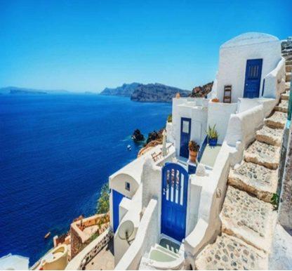 Сини врати в Санторини