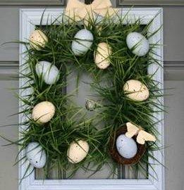 Великденска украса за врата